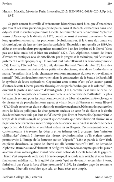 The French Review, décembre 2016